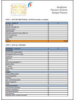 Kingfisher Pension Scheme Budget Planner